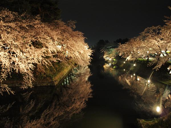 弘前公園の夜景