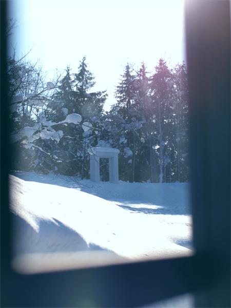 アルテピアッツァ美唄の冬窓から